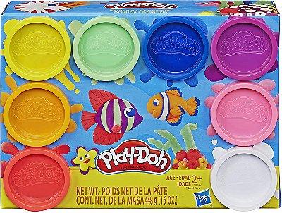 Massa Modelar 8 Potes Clássicos, Play-Doh, Multicor