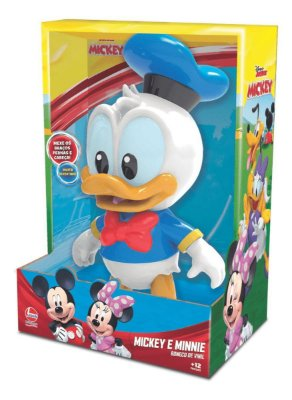 Boneco de Vinil - 27 Cm - Disney - Pato Donald - Líder