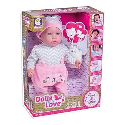 Boneca - Dolls With Love - Reborn - Cotiplás - COT2407