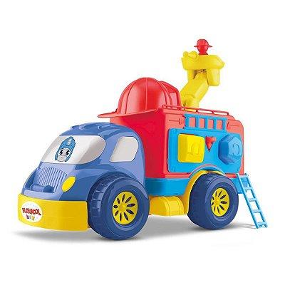 Caminhão Bombeiro Divertoys Playskool Transformers 8149