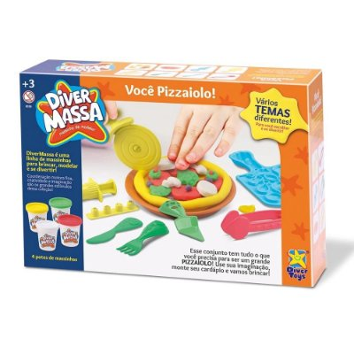 KIT MASSINHA DIVER MASSA - VOCE PIZZAIOLO - DIVERTOYS