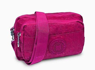 Bolsinha Transversal Rebecca Bonbon Feminina Crinkle Pink