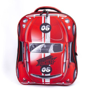 Mochila Fast Machine 3D Clio Vermelha