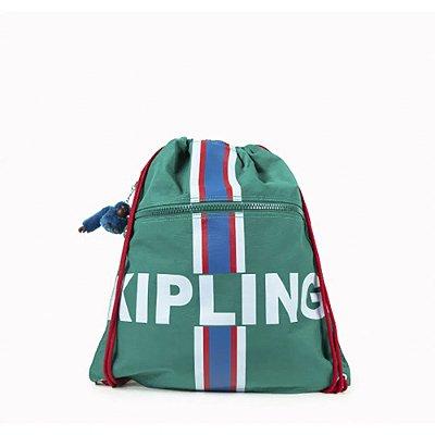 Mochila Kipling Supertaboo - Verde Listrada