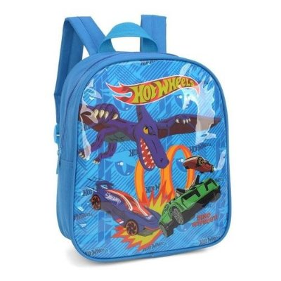 Mochila de Costas Hot Wheels Azul Tam P Luxcel