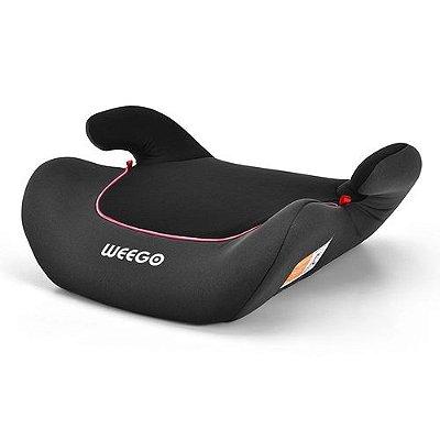 Cadeira para Auto Turbooster 4054 Weego de 22 a 36Kg Preto/Rosa