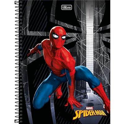 Caderno Universitário 1 Matéria Spider Man 80 Folhas Tilibra- Sortido