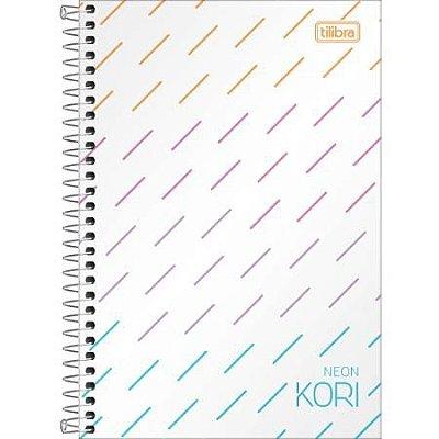 Caderno Espiral Capa Plastica 1/4 Sem Pauta Neon Kori 80 Folhas