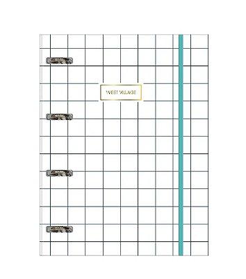 Caderno Tilibra Argolado Universitário Cartonado Com Elástico West Village - 80 Folhas