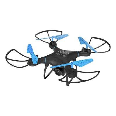 Drone Multilaser Bird Câmera HD 1280P Bateria 22 minutos Alcance de 80m Flips em 360° Controle remoto Preto/Azul - ES255