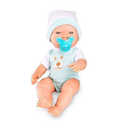 Boneca Bebezinho Real Primeiros Cuidados Menino - Roma