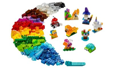 LEGO Classic - Blocos Transparentes Criativos