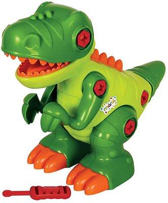 Brinquedo Dinossauro T-Rex sem Som Solapa Maral Multicor