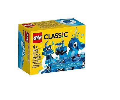 Lego Classic Blocos de Montar Peças Azuis Criativas