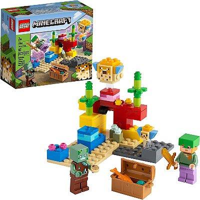 Lego Minecraft O Recife De Coral 92 Peças - LEGO 21164
