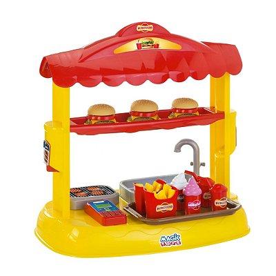 Brinquedo Barraca de Mini Hambúrguers Infantil Magic Toys
