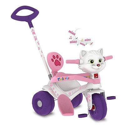 Triciclo Infantil Tonkinha Doggy com Empurrador - Bandeirante