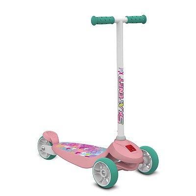 Patinete Rosa 3 Rodas Skatenet Bandeirante