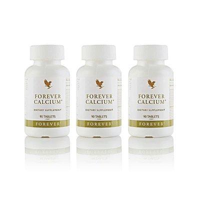 Forever Calcium, Citrato de cálcio, Vitamina D e magnésico, 03 unidades