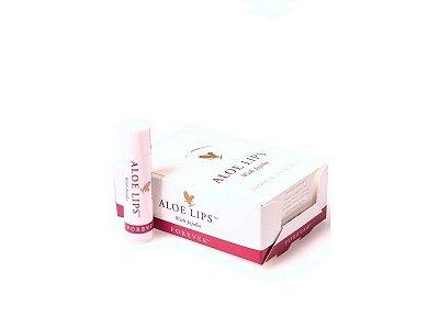 Aloe Lips, Bastão de Aloe Vera com jojoba e cera de abelha, Protetor labial, 12 unidades