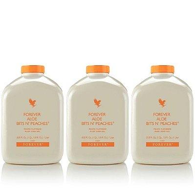 Forever Bits n Peaches, Aloe Vera com Pêssego, 3 litros