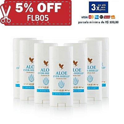 Aloe Ever-Shield Deodorant, 7 unidades, Desodorante de Aloe Vera, não contém Sais de Alumínio