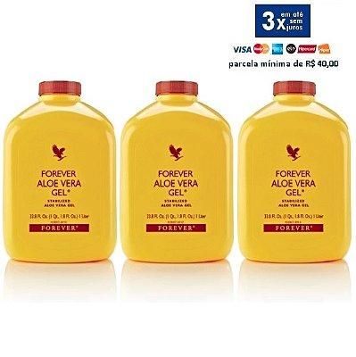 Forever Aloe Vera Gel, Suco de Aloe Vera, Puro e Estabilizado, 3 Litros