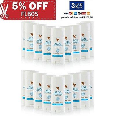 Aloe Ever-Shield Deodorant, Desodorante de Aloe Vera, não contém Sais de Alumínio, 18 unidades