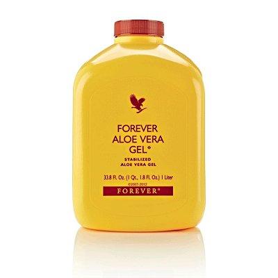 Forever Aloe Vera Gel +5% cupom, Suco de Aloe Vera, 96% de Aloe Vera estabilizado, 1 Litro