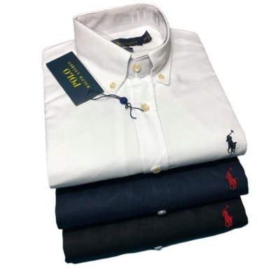 Kit 3 Camisas Sociais Ralph Lauren - Slim Fit