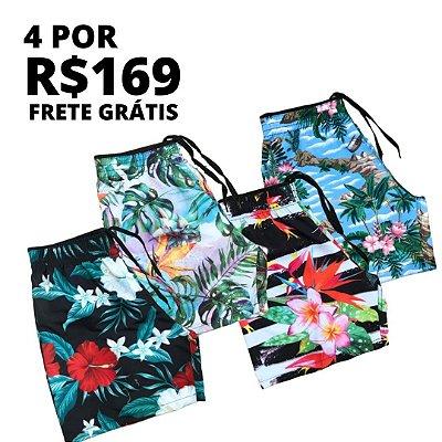 Kit Shorts Água Floral
