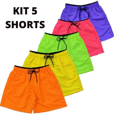 Kit 5 Shorts Básicos - Neon Vibes