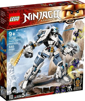 LEGO NINJAGO 71738 O ROBÔ TITÃ DE COMBATE DE ZANE