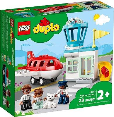 LEGO DUPLO 10961 AVIÃO E AEROPORTO