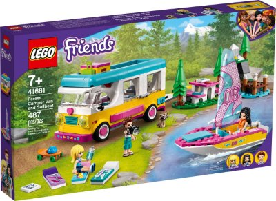 LEGO FRIENDS 41681 TRAILER E BARCO À VELA NA FLORESTA