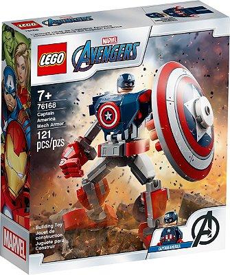 LEGO SUPER HEROES 76168 ARMADURA ROBÔ DO CAPITÃO AMERICA