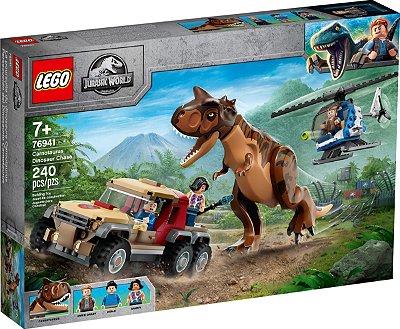 LEGO JURASSIC WORLD 76941 PERSEGUIÇÃO DO DINOSSAURO CARNOTAURUS