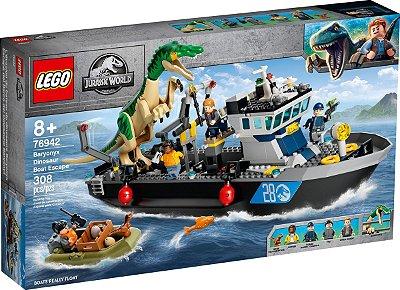 LEGO JURASSIC WORLD 76942 FUGA DE BARCO DO DINOSSAURO BARYONYX