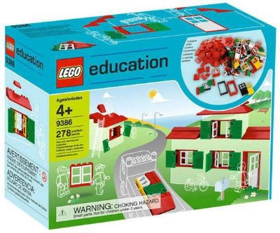 LEGO EDUCATION 9386 DOORS, WINDOWS & ROOF TILES