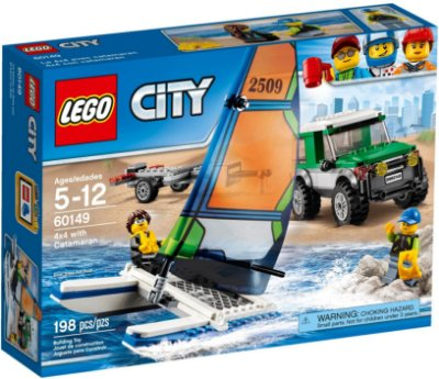 LEGO CITY 60149 4X4 WITH CATAMARAN