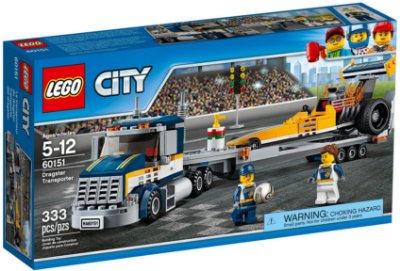 LEGO CITY 60151 DRAGSTER TRANSPORTER