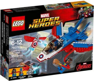 LEGO SUPER HEROES 76076 CAPTAIN AMERICA JET PURSUIT
