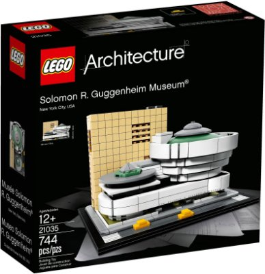 LEGO ARCHITECTURE 21035 GUGGENHEIM MUSEUM