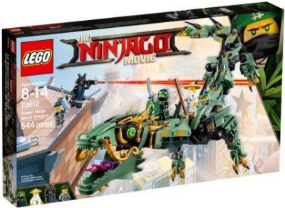 LEGO NINJAGO THE MOVIE 70612 GREEN NINJA MECH DRAGON