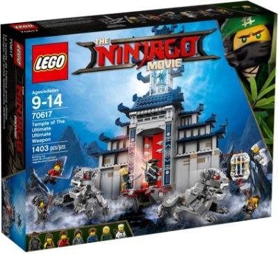 LEGO NINJAGO THE MOVIE 70617 TEMPLE OF THE ULTIMATE WEAPON
