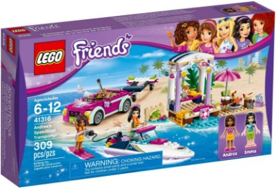 LEGO FRIENDS 41316 ANDREA'S SPEEDBOAT TRANSPORTER