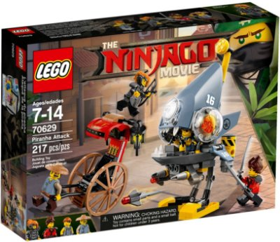 LEGO NINJAGO THE MOVIE 70629 PIRANHA ATTACK
