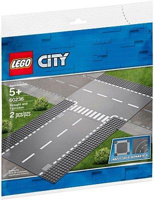 LEGO CITY 60236 PISTAS RETA E CRUZAMENTO T