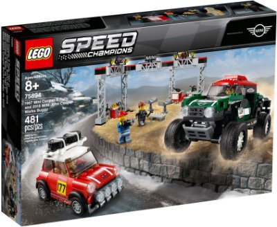 LEGO SPEED CHAMPIONS 75894 MINI: 1967 COOPER S RALLY AND 2018 JOHN COOPER WOARKS BUGGY