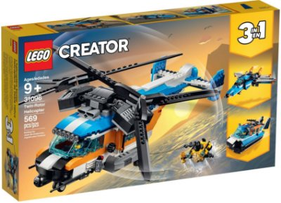 LEGO CREATOR 31096 TWIN-ROTOR HELICOPTER